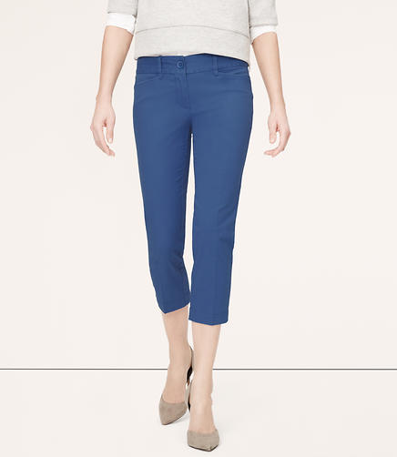 Image of Cotton Twill Cropped Pants in Marisa Fit