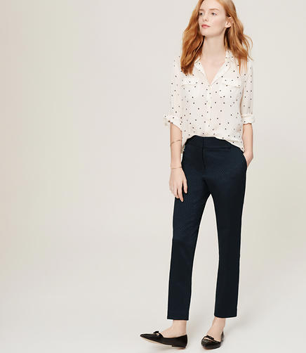 Image of Jacquard Skinny Ankle Pants in Julie Fit