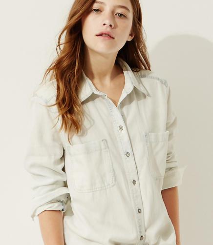 Image of Lou & Grey Bleached Chambray Shirt