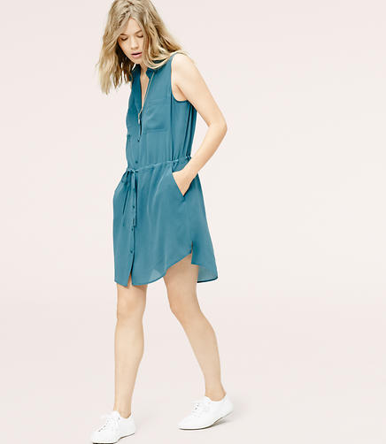 Image of Lou & Grey Silk Shirtdress