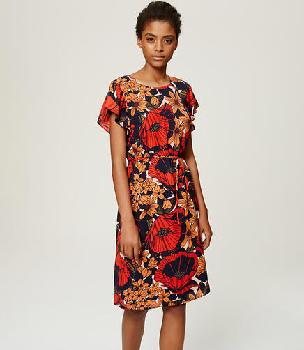 Image of Autumn Blossom Flutter Dress