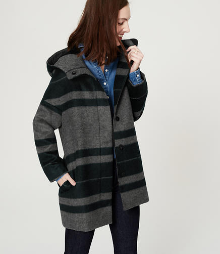 Image of Striped Cocoon Coat