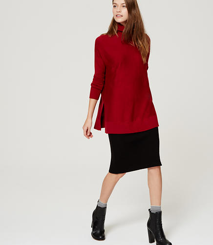 Image of Relaxed Turtleneck Tunic