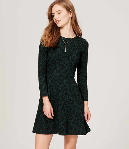Image of Jacquard Flare Dress