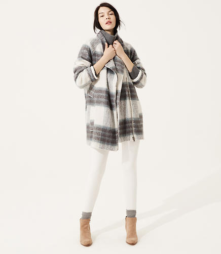 Image of Lou & Grey Roomy Plaid Coat