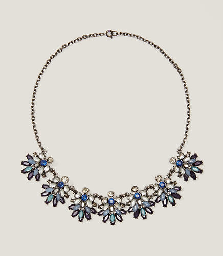 Image of Blue Crystal Statement Necklace
