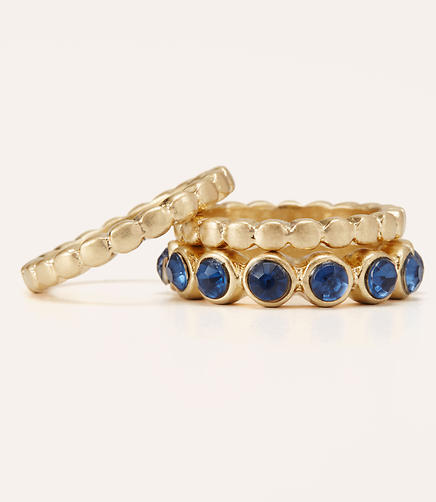 Image of Blue Ring Set