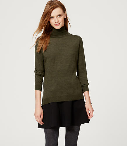Image of Button Back Turtleneck Sweater