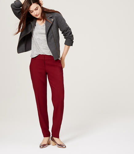 Image of Textured Pencil Pants in Julie Fit