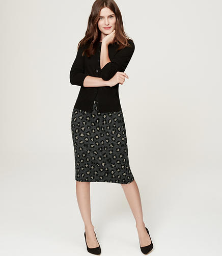 Image of Animal Spot Pencil Skirt