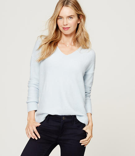 Image of Relaxed V-Neck Sweater