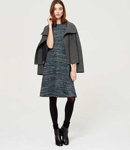 Image of Tweed Flare Dress