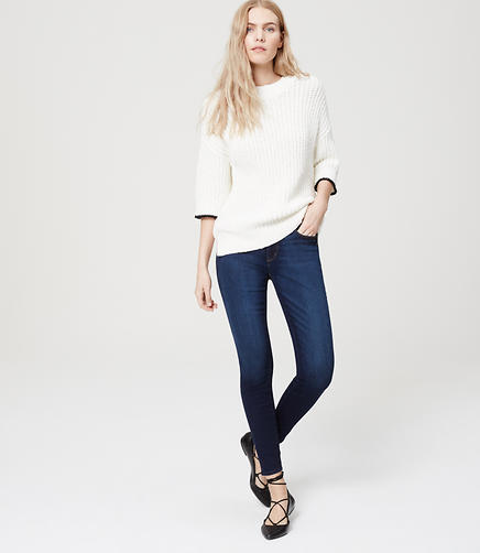 Image of Denim Leggings in Vivid Dark Indigo Wash