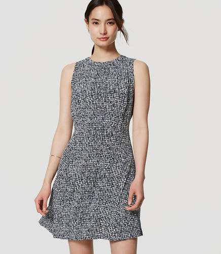Image of Speckled Flare Dress