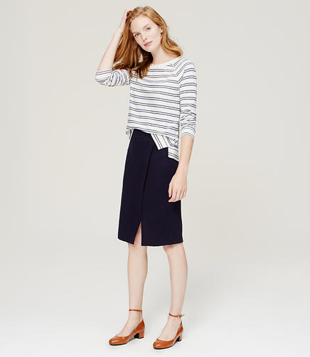 Image of Wrap Pencil Skirt