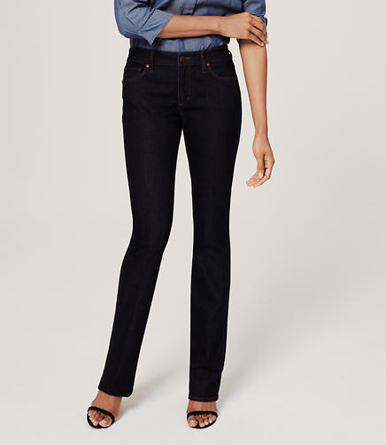 Image of Tall Curvy Boot Cut Jeans in Dark Rinse Wash