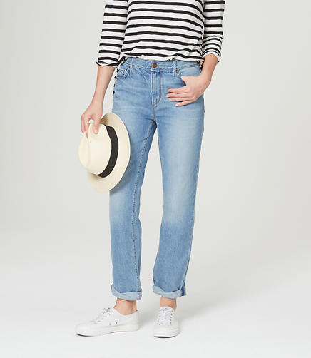 Image of Tall High Waist Boyfriend Jeans in Mojave Blue Wash
