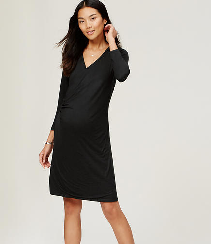 Image of Maternity 3/4 Sleeve Wrap Dress