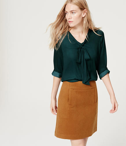 Image of Tie V-Neck Blouse