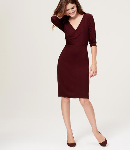 Image of Petite Wrap Dress
