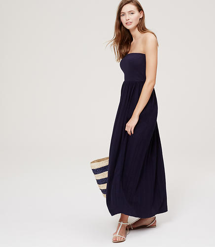 Image of LOFT Beach Strapless Maxi Dress