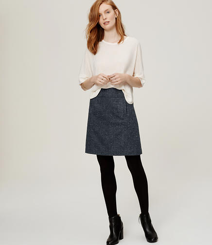 Image of Tweed Pocket Skirt