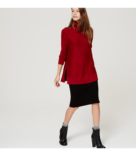 Image of Petite Relaxed Turtleneck Tunic
