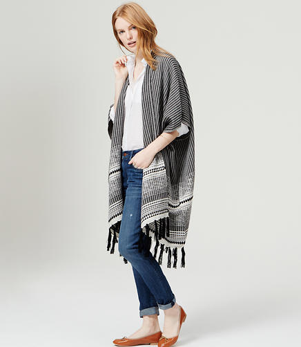 Image of Dotted Line Poncho
