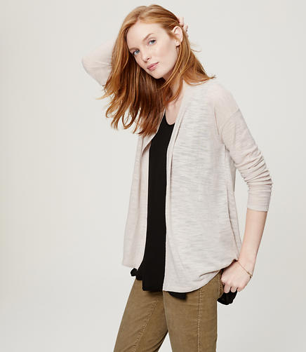 Image of Petite Drop Shoulder Open Cardigan