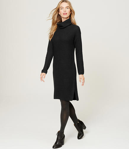 Image of Turtleneck Sweater Dress