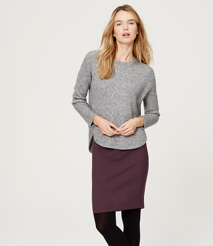 Image of Wool Scuba Pencil Skirt