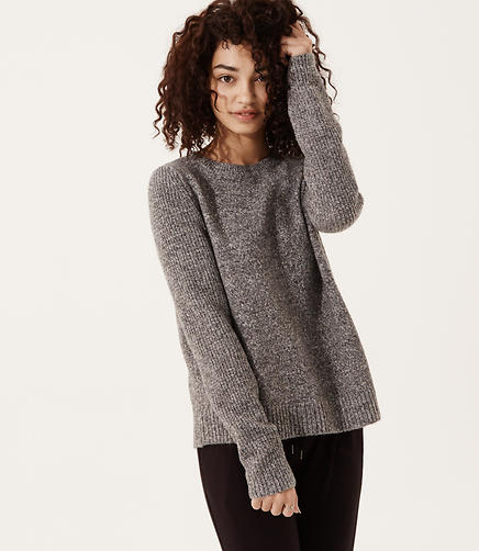 Image of Lou & Grey Woodland Knit Asymmetric Sweater
