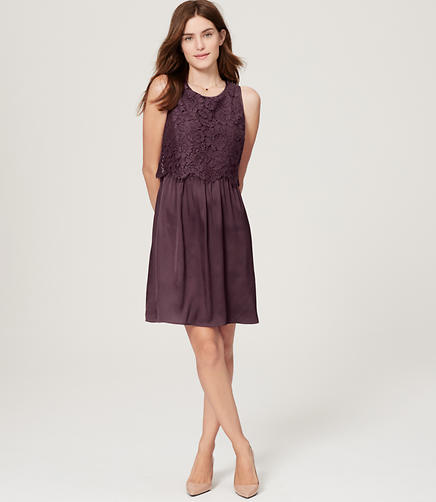 Image of Lace Bodice Dress