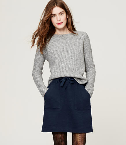 Image of Melange Drawstring Skirt