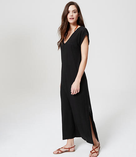 Image of LOFT Beach Tee Maxi Dress