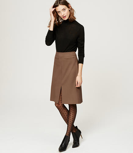 Image of Pocketed Midi Skirt
