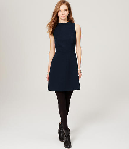 Image of Medallion Jacquard Flare Dress