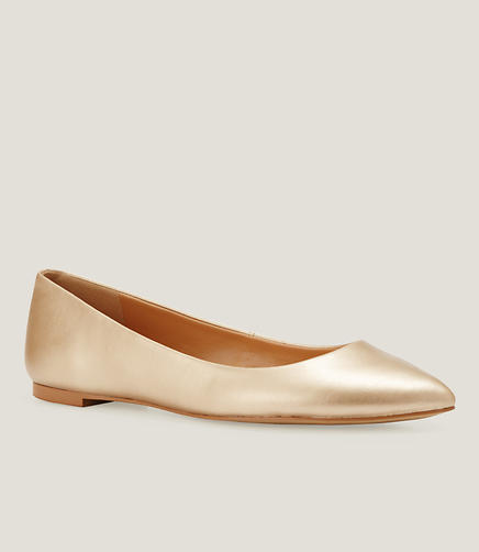 Image of Metallic Pointy Toe Flats