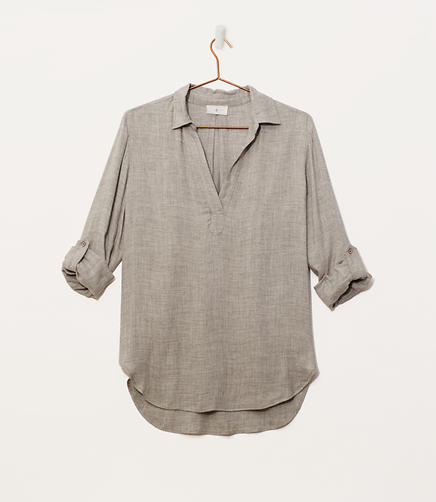 Image of Lou & Grey Fluid Splitneck Shirt