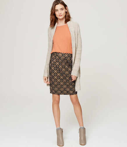 Image of Petite Medallion Pencil Skirt