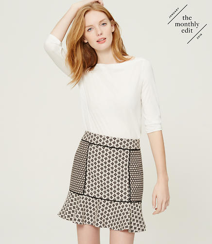 Image of Mixed Jacquard Flippy Skirt