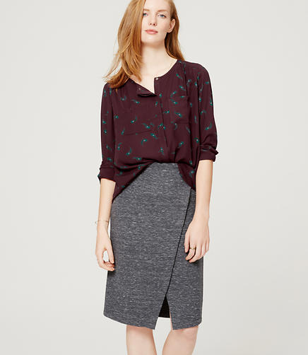 Image of Feather Collarless Utility Blouse