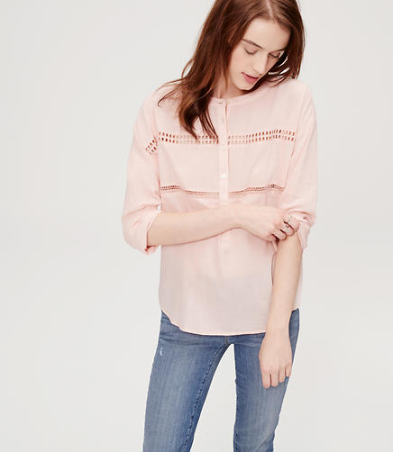 Image of Lacy Henley Shirt