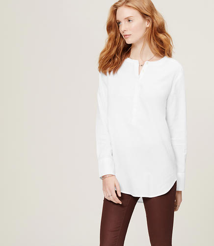 Image of Cotton Tunic Shirt