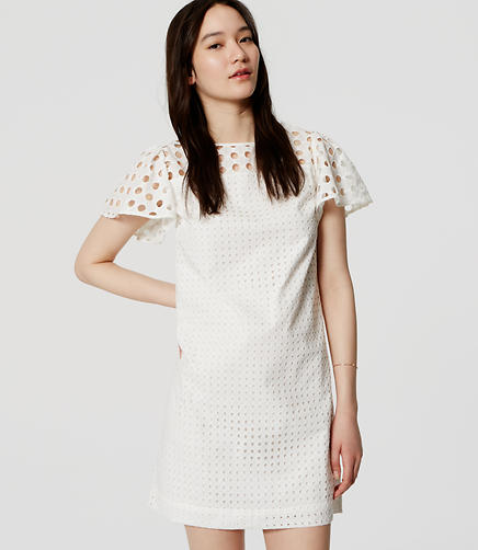 Image of Eyelet Flutter Dress