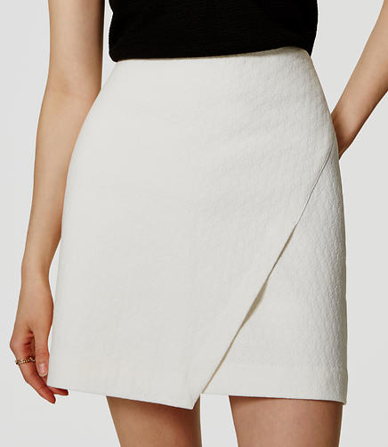 Image of Textured Wrap Skirt