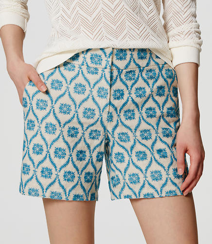 Image of Floral Mosaic Riviera Shorts with 6