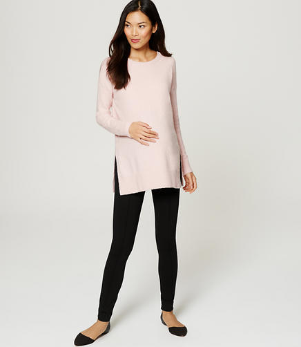 Image of Maternity Pintucked Ponte Pants