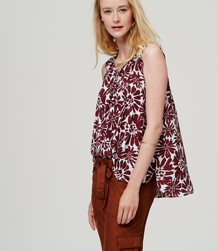Image of Ruffled Sleeveless Blouse