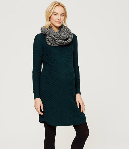 Image of Maternity Cozystitch Sweater Dress